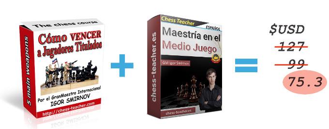 Cursos Cómo vencer a jugadores titulados y Maestría en el Medio Juego