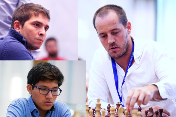 Lázaro Bruzón de Cuba, Jorge Cori de Perú y Francisco Vallejo de España