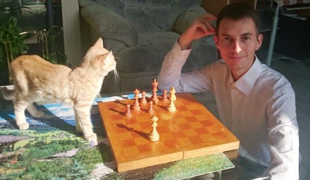 Ejercicio de ajedrez con el GM Igor Smirnov