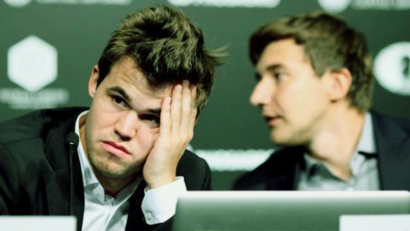 Magnus Carlsen y Sergey Karjakin