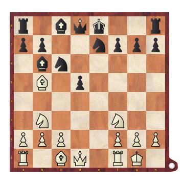 Jugando alrededor del isolani - Diagrama de posición de medio juego