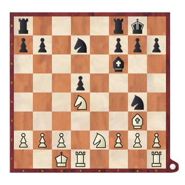 Jugando contra el isolani - Diagrama de posición de medio juego