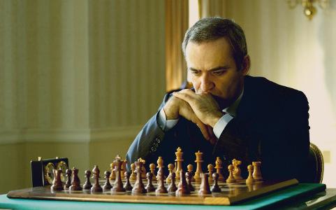 Garry Kasparov en el tablero