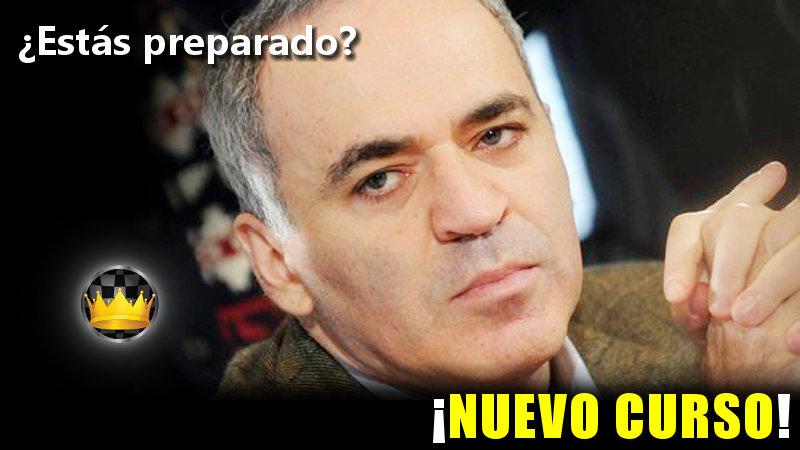 Nuevo curso de ajedrez sobre Garry Kasparov