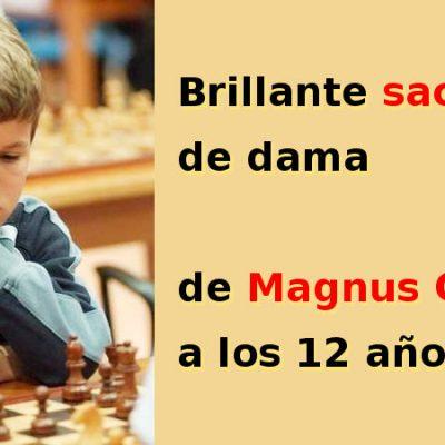 Brillante sacrificio de dama de Magnus Carlsen a los 12 años