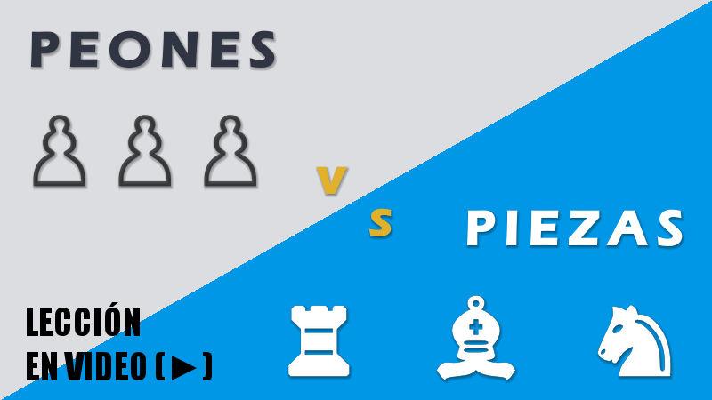Pieza vs peones