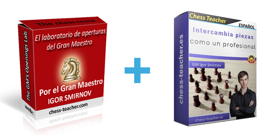 Oferta de cursos: Intercambia piezas como un profesional y El Laboratorio de Aperturas del Gran Maestro