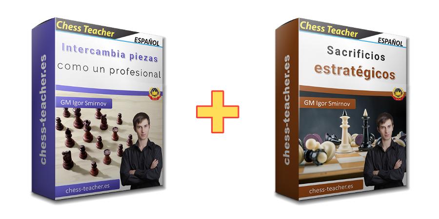 Oferta de cursos: Sacrificios estratégicos + Intercambia piezas como un profesional