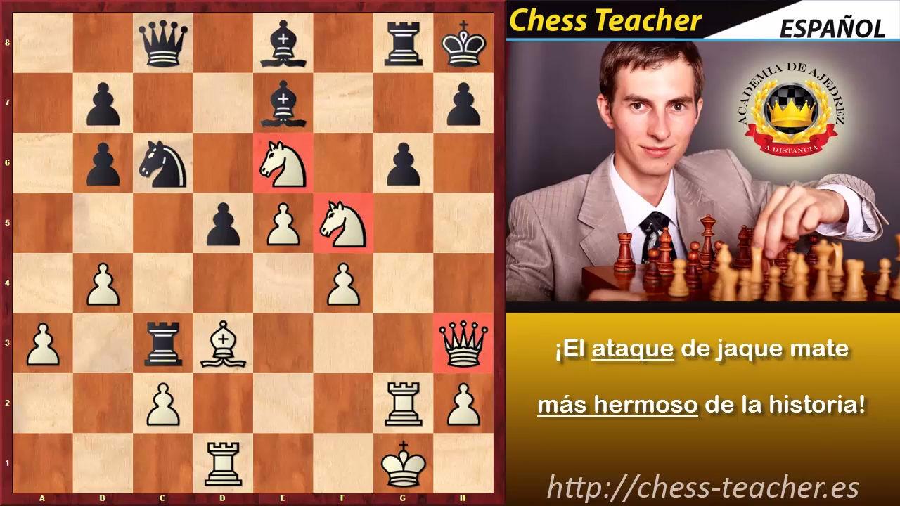 El ataque de jaque mate más hermoso del ajedrez