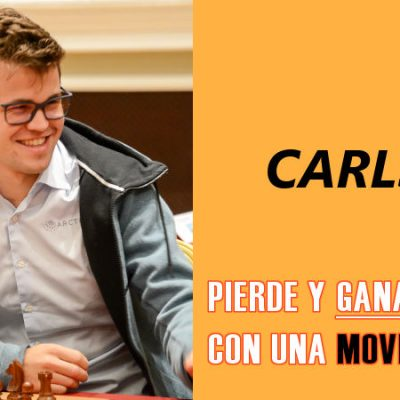 Carlsen pierde y gana con una movida ilegal
