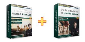 Oferta de cursos: Técnicas prácticas para ganar finales + De la apertura al medio juego