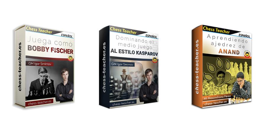 Combo de 3 cursos de campeones mundiales de ajedrez