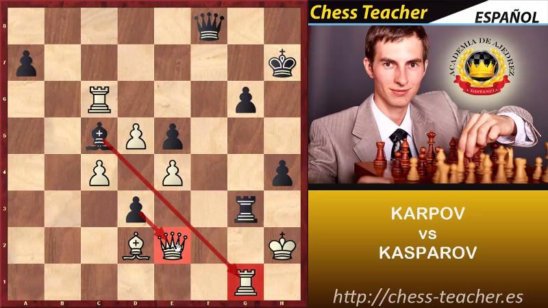 Karpov destruye secuencia calculada de Kasparov